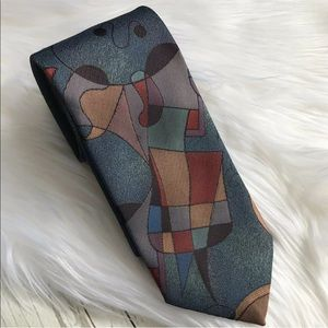 Pierre Balmain Tie Picasso Art Style Multicolor